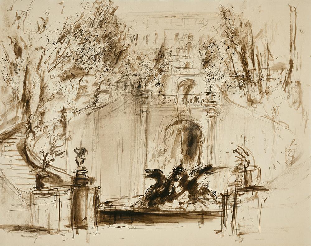 Claudia Berg Brunnen in der Villa d'Este